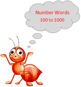 Number Words 100 to 1000