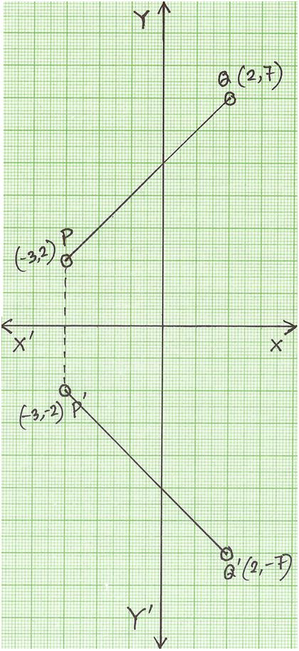 reflection of a point in x