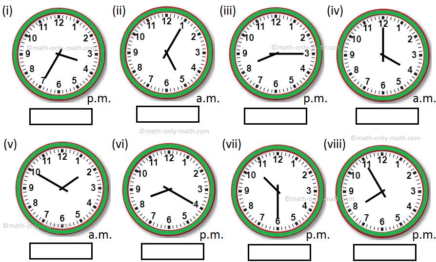 24 Hour Clock Worksheet