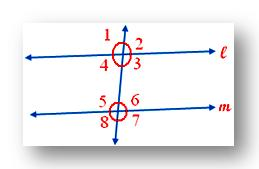 two parallel lines are cut by the transversal