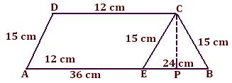 examples on area of trapezium