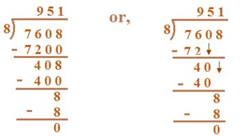 Division of Four-Digit Numbers