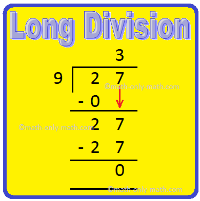 3rd class long division