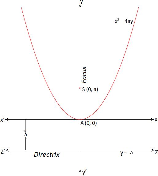 Standard form of Parabola x^2 = 4ay