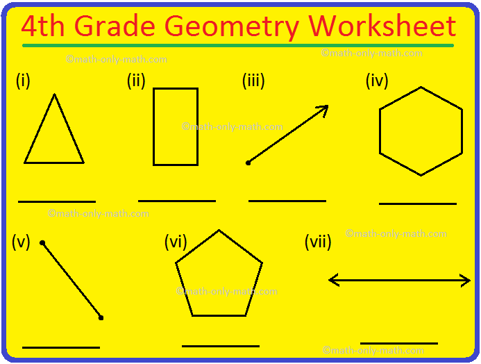 4th Grade Geometry Worksheet