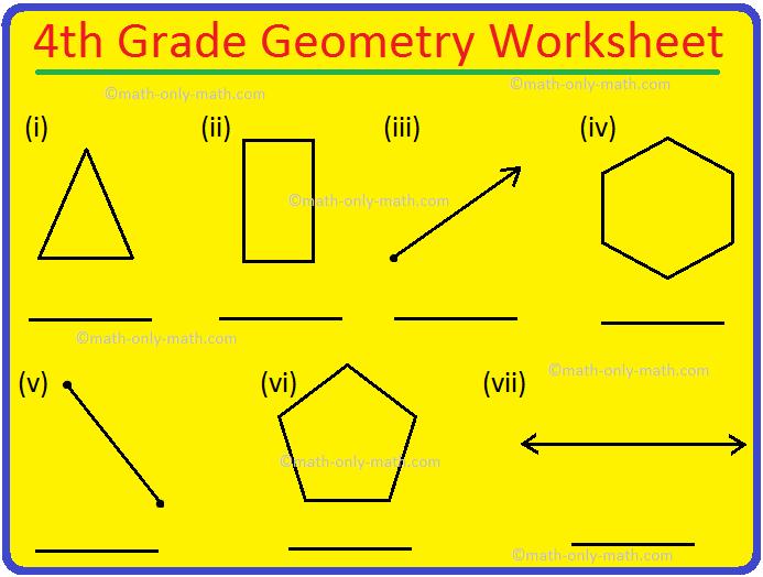 4th Grade Geometry Worksheet