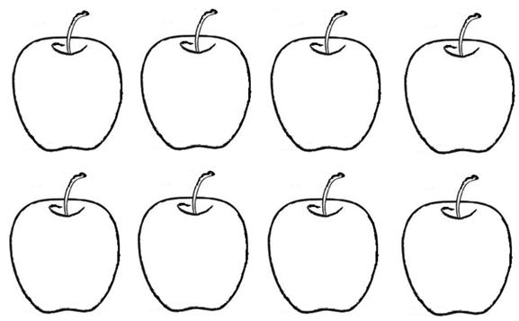 Learn To Write Number 8 on Ten Apples Up On Top Counting Printable