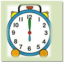 Image result for clock showing oclock for kids