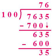 Number is Divided by 100