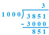 Number is Divided by 1000