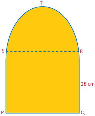 Area and Perimeter of Semicircular Figure