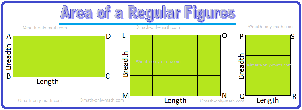 Area Of A Rectangle Area Of Rectangle Length Breadth Examples