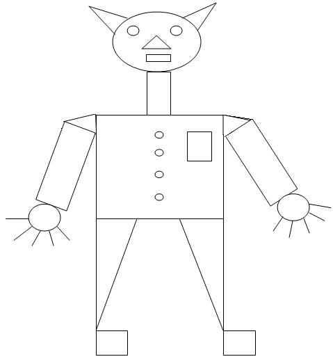 Color The Geometrica Figures on vocabulary squares