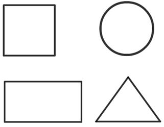 Color the Shapes Color Shapes Printable Coloring Pictures of
