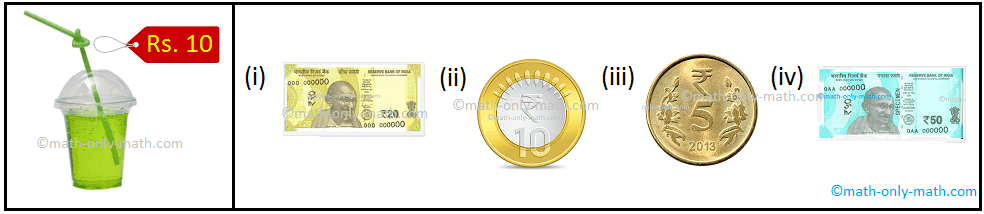 Combination of Coins and Notes