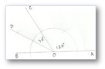 Construction of Angles by using Compass, Construction of Angles