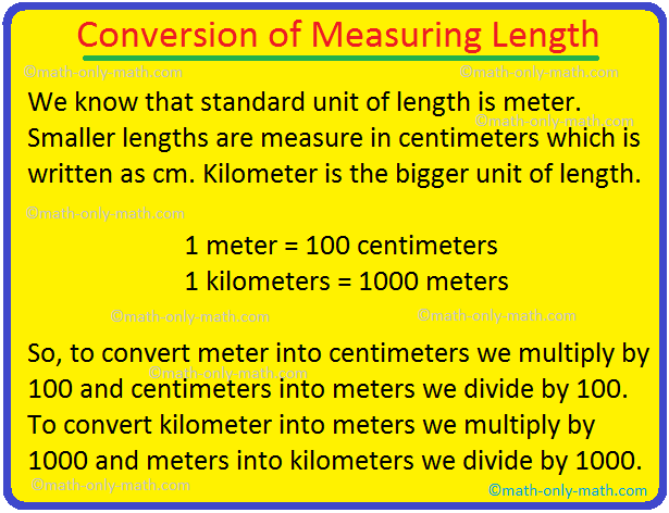 Conversion of Measuring Length