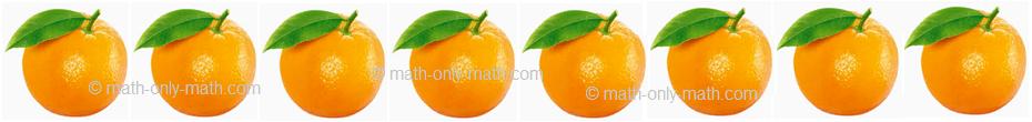Count Number Eight - Oranges