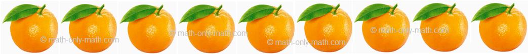 Count Number Nine - Oranges