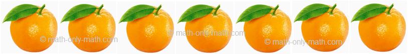 Count Number Seven - Oranges