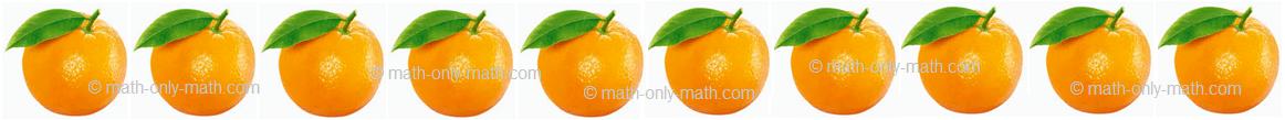Count Number Ten - Oranges