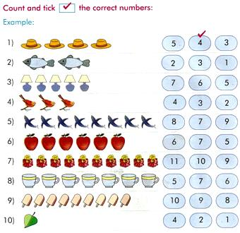 Counting Objects Worksheets,Math Counting Games