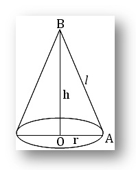 curved surface area of a cone