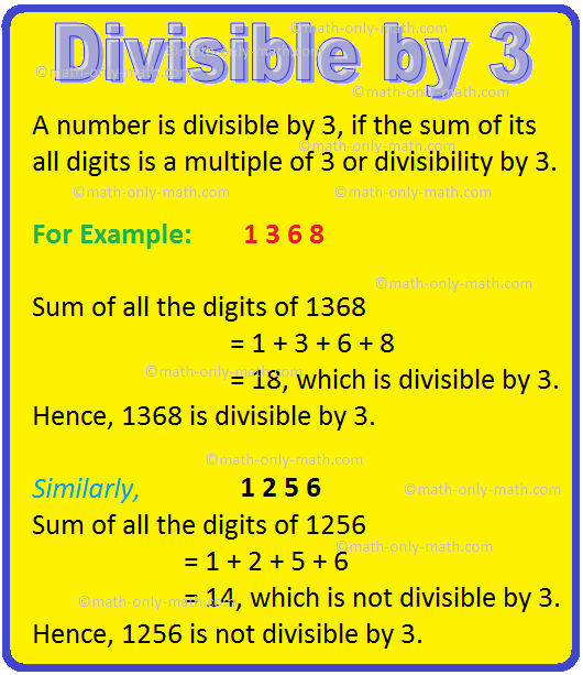 Divisible by 3