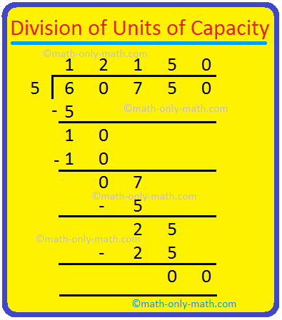 Division of Capacity