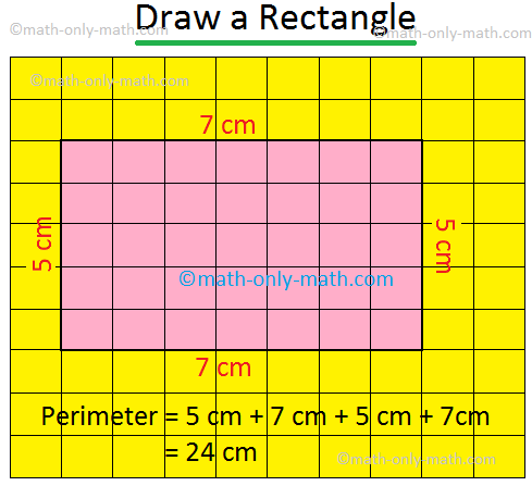 Draw a Rectangle with Perimeter 24 cm