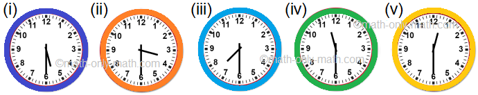 Draw Hands on the Clock Faces