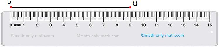 Draw a line segment PQ