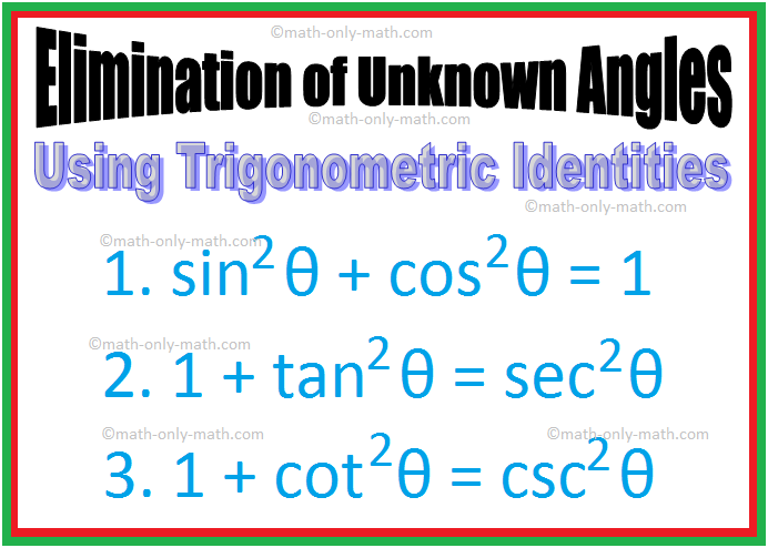Elimination of Unknown Angles | Using Trigonometric Identities