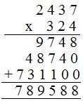 multiplication by a 3-digit numbers