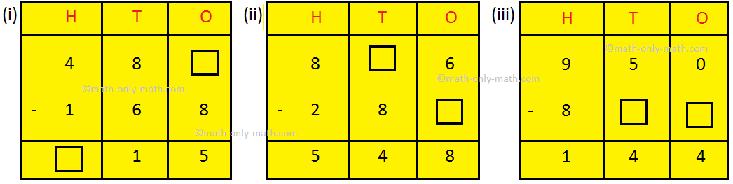 Fill in the Missing Subtraction