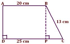 find the area of trapezium