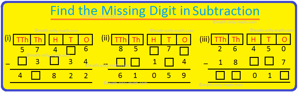 Find the Missing Digit in Subtraction
