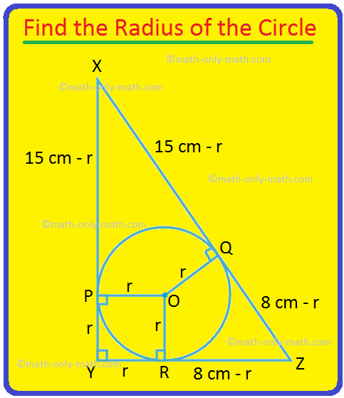 Find the Radius of the Circle