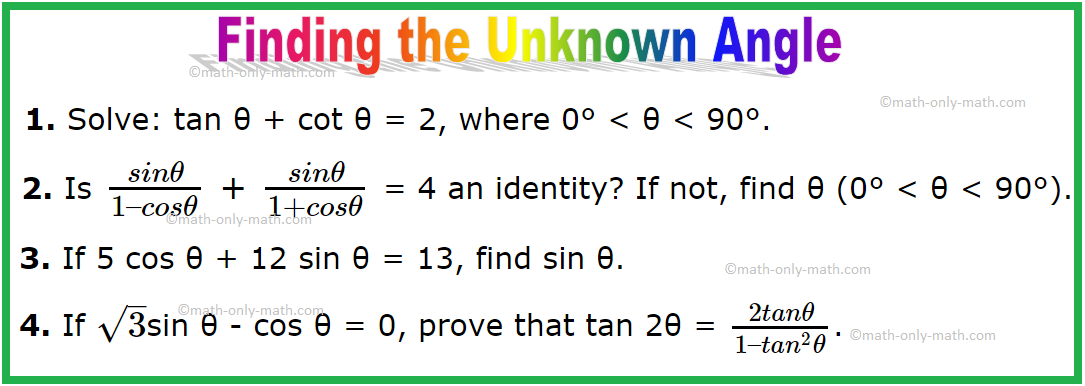 Finding the Unknown Angle