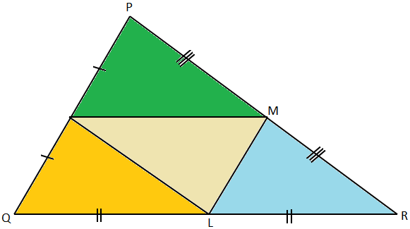 Four Triangles which are Congruent to One Another