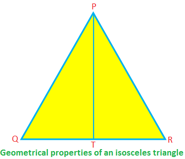 Geometrical Properties of an Isosceles Triangle