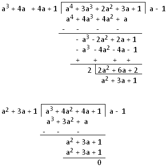 H.C.F. of Polynomials by Division Method