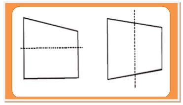 Horizontal and Vertical Lines of Symmetry