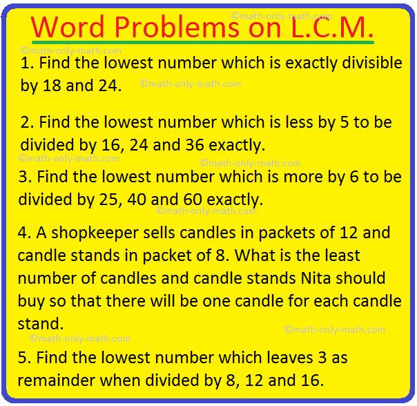 Word Problems on L.C.M.