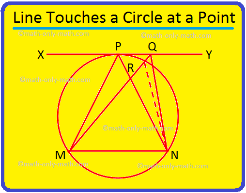 Line Touches a Circle at A Point