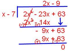 Quotient 2x 9