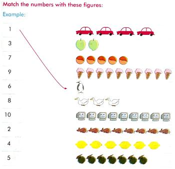 matching numbers worksheets,worksheets by counting the objects