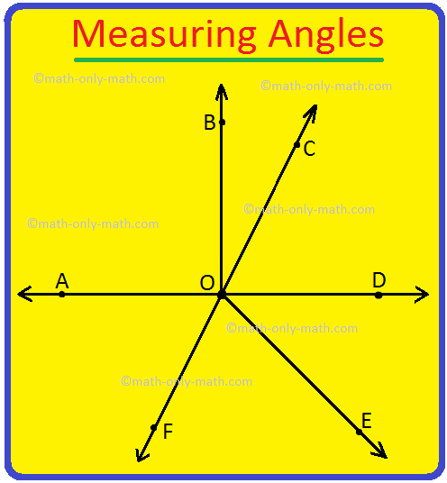 Measuring Angles Using Protractor