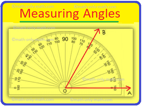 Measuring an Angle by a Protractor |Circular ...