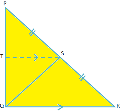 Midpoint Theorem on Right-angled Triangle